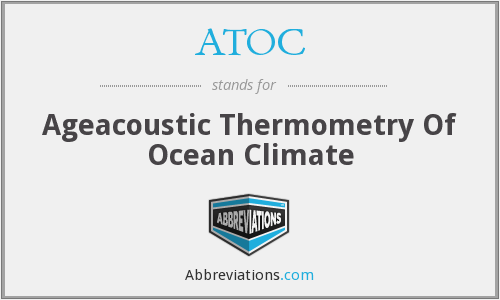 ATOC - Ageacoustic Thermometry Of Ocean Climate