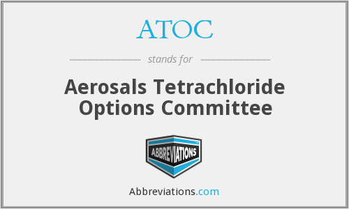 ATOC - Aerosals Tetrachloride Options Committee