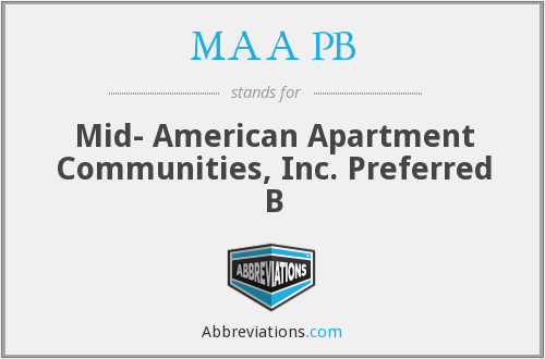 MAA PB - Mid- American Apartment Communities, Inc. Preferred B