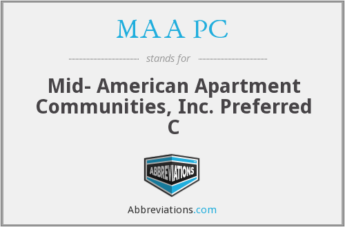 MAA PC - Mid- American Apartment Communities, Inc. Preferred C