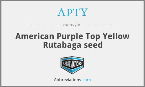 APTY - American Purple Top Yellow Rutabaga seed