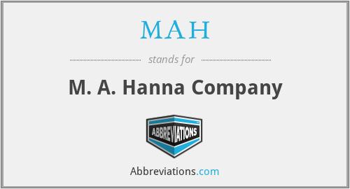 MAH - M. A. Hanna Company