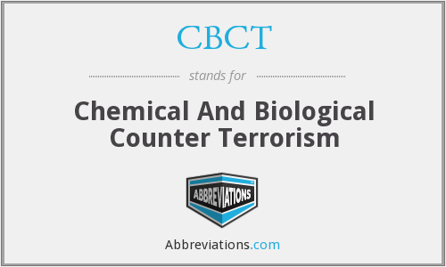 CBCT - Chemical And Biological Counter Terrorism