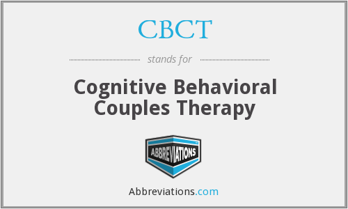 CBCT - Cognitive Behavioral Couples Therapy
