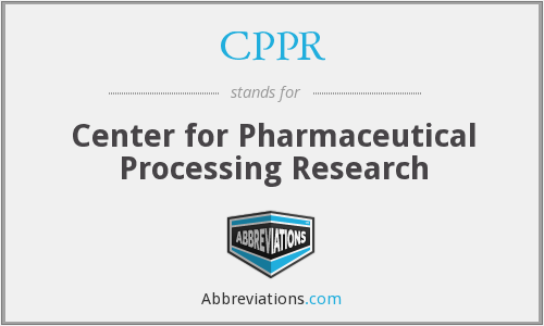 CPPR - Center for Pharmaceutical Processing Research