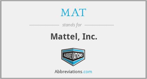 MAT - Mattel, Inc.
