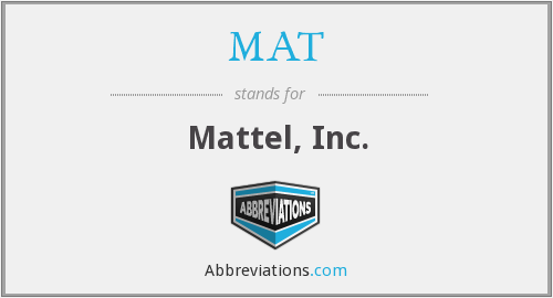 What does mattel stand for?