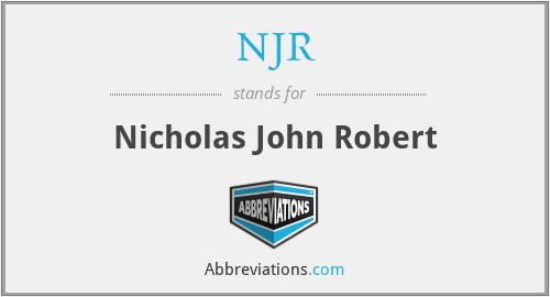 NJR - Nicholas John Robert