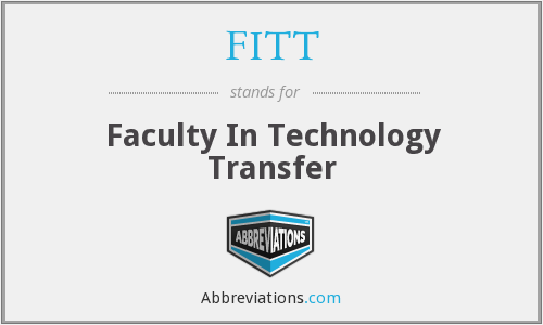 FITT - Faculty In Technology Transfer