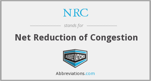 NRC - Net Reduction of Congestion