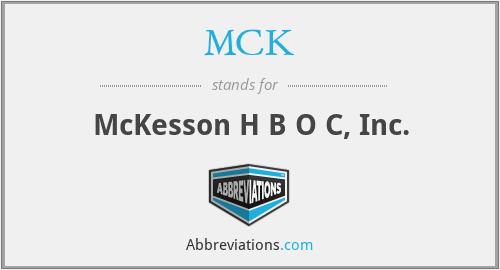 MCK - McKesson H B O C, Inc.