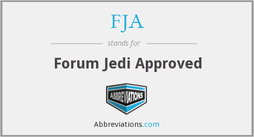 FJA - Forum Jedi Approved