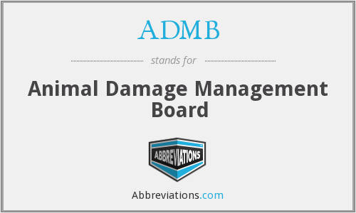 What does ADMB stand for?