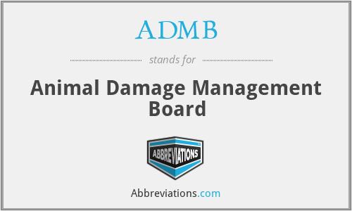 ADMB - Animal Damage Management Board