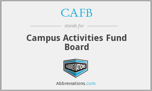 CAFB - Campus Activities Fund Board