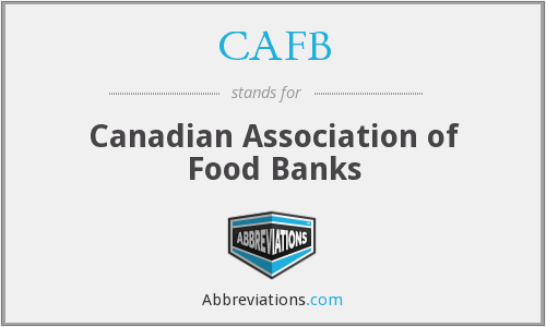 CAFB - Canadian Association of Food Banks