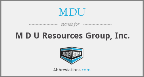 MDU - M D U Resources Group, Inc.