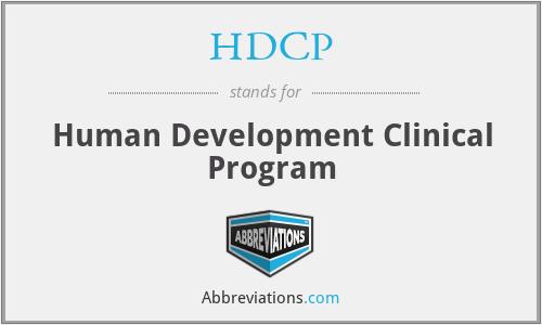 HDCP - Human Development Clinical Program