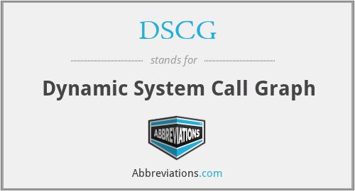 DSCG - Dynamic System Call Graph