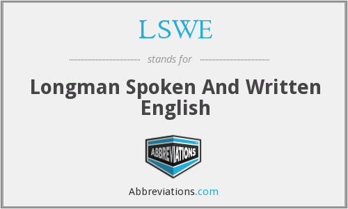 LSWE - Longman Spoken And Written English