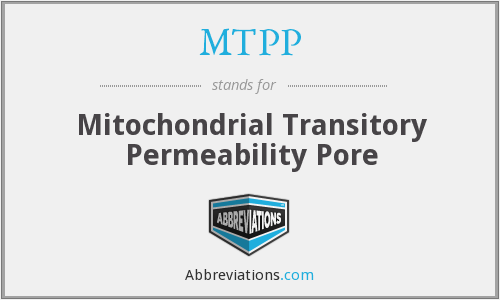 MTPP - Mitochondrial Transitory Permeability Pore