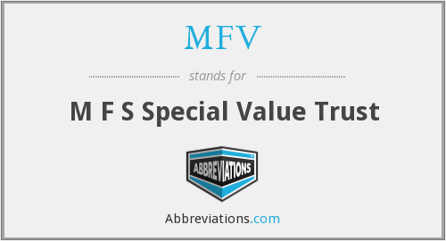MFV - M F S Special Value Trust