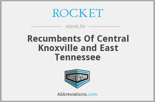 ROCKET - Recumbents Of Central Knoxville and East Tennessee