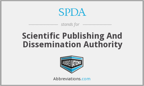 SPDA - Scientific Publishing And Dissemination Authority