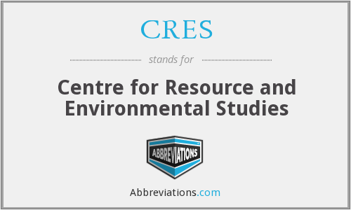 CRES - Centre for Resource and Environmental Studies