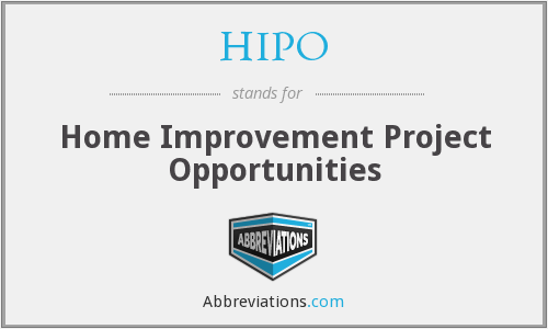 HIPO - Home Improvement Project Opportunities