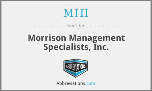 MHI - Morrison Management Specialists, Inc.