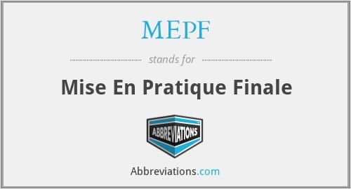 MEPF - Mise En Pratique Finale
