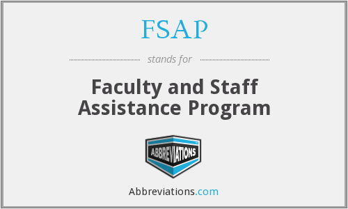 FSAP - Faculty and Staff Assistance Program