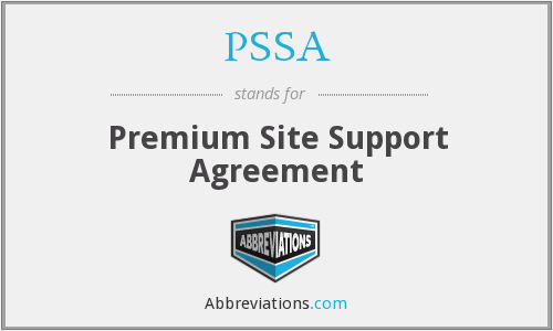 PSSA - Premium Site Support Agreement