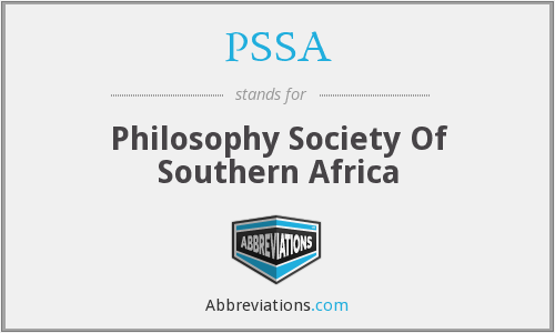 PSSA - Philosophy Society Of Southern Africa