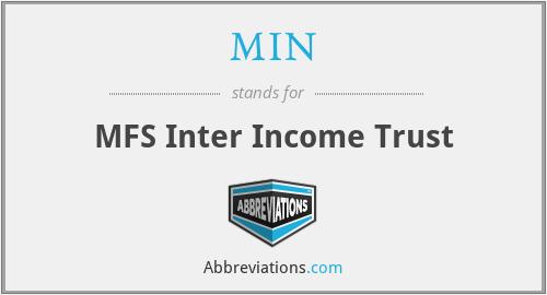 MIN - MFS Inter Income Trust