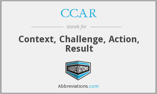 CCAR - Context, Challenge, Action, Result