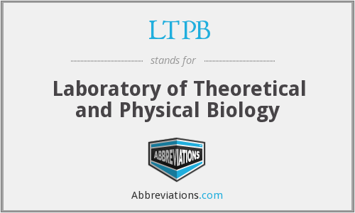 LTPB - Laboratory of Theoretical and Physical Biology