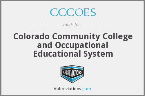 CCCOES - Colorado Community College and Occupational Educational System