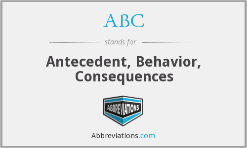 ABC - Antecedent, Behavior, Consequences