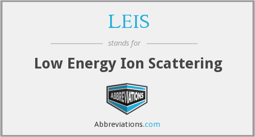 LEIS - Low Energy Ion Scattering