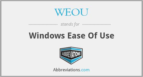 WEOU - Windows Ease Of Use