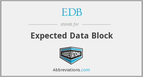 EDB - Expected Data Block