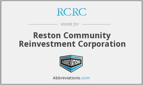 RCRC - Reston Community Reinvestment Corporation