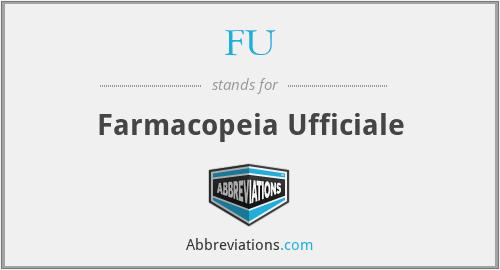 FU - Farmacopeia Ufficiale