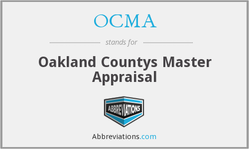 OCMA - Oakland Countys Master Appraisal
