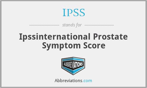 IPSS - Ipssinternational Prostate Symptom Score