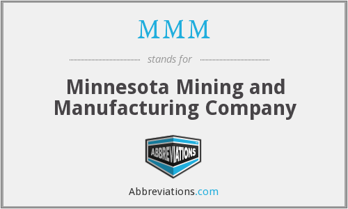 MMM - Minnesota Mining and Manufacturing Company