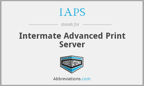 IAPS - Intermate Advanced Print Server