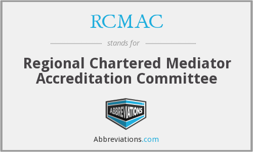 RCMAC - Regional Chartered Mediator Accreditation Committee